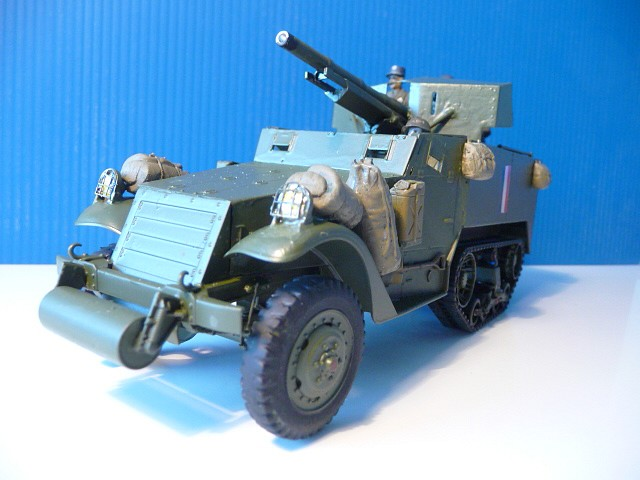M 3 canon 75mm GUN MOTOR CARRIAGE  ( 2 )  DRAGON 1/35éme  P1050536