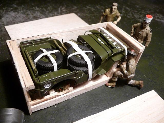 MAROC 1943- Livraison des JEEP FORD GPW en caisses bois P1050554
