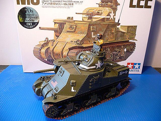 Tunisie - Passe de Kasserine 1942- M3 Medium tank LEE MKI   - Tamiya 1/35  - réf= 35039-1900 P1050557