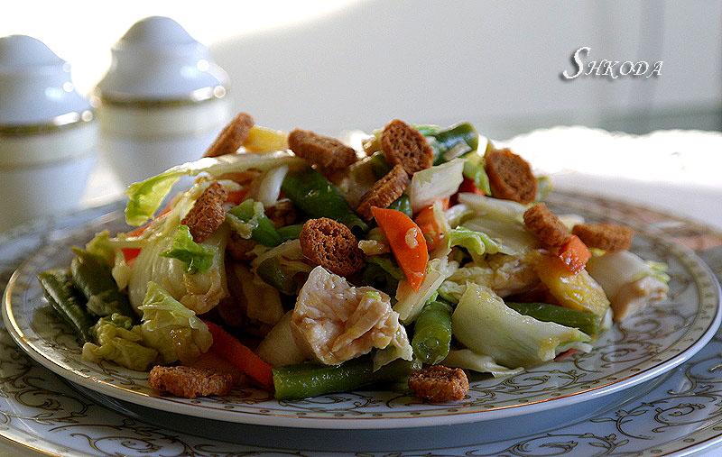 Азиатский куриный салат (Asian chicken salad) Sam_3618