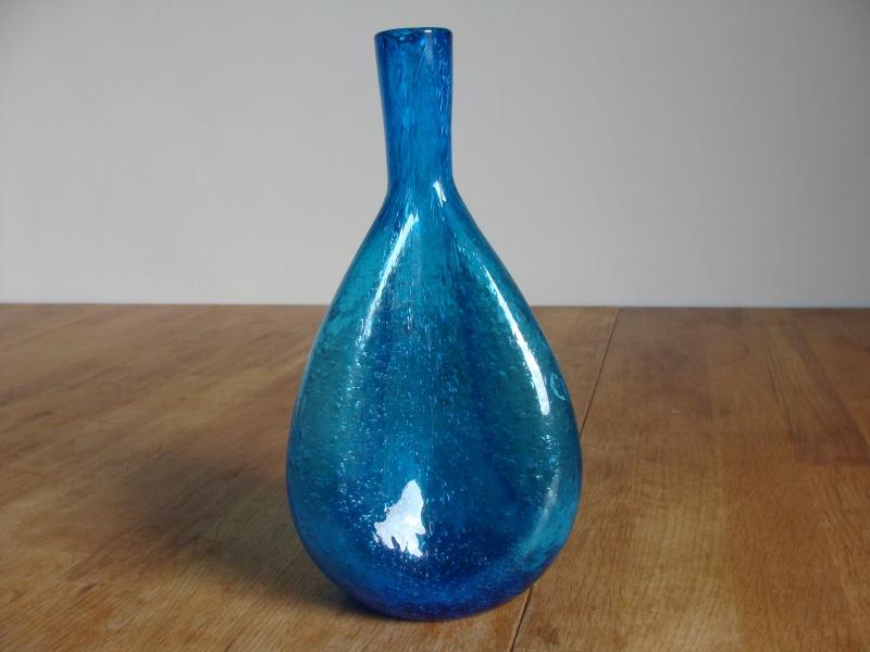 Blue Glass Vase 22010