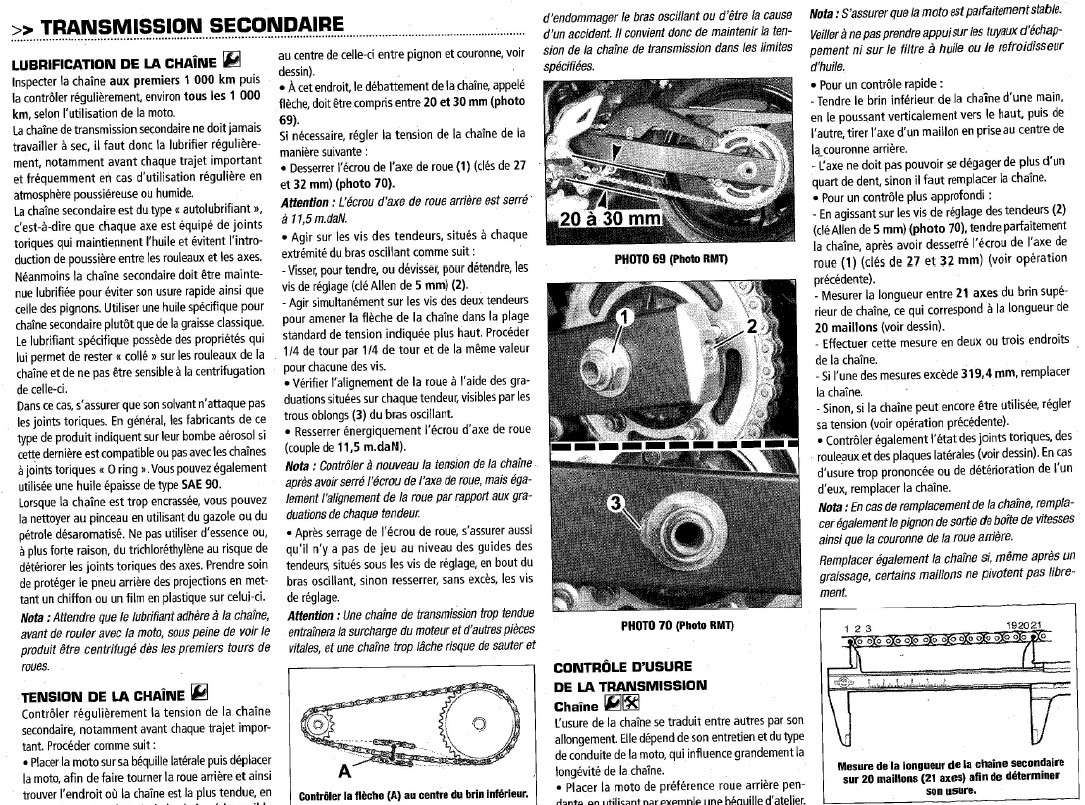 Bruit métallique à l'accélération Chaine10