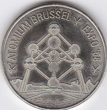 Pièce et Medaille souvenir Atomiu10