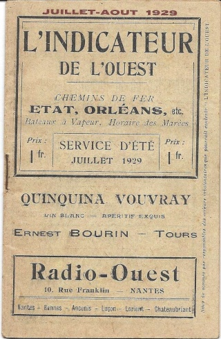A VENDRE : 5 livrets indicateurs horaires (CHAIX, MAYEUX, autres) de 1919 à 1941 1929-h10