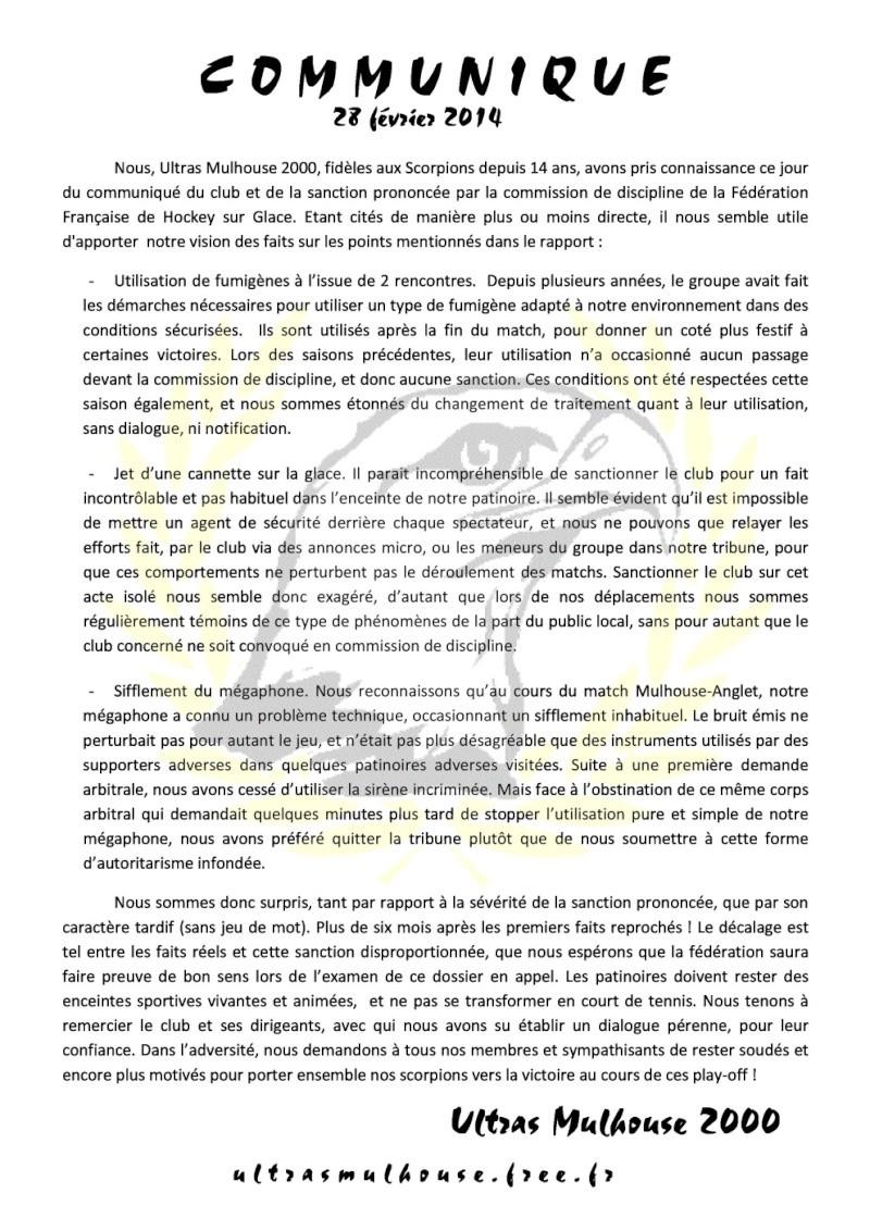 Sanction contre Mulhouse Commun10