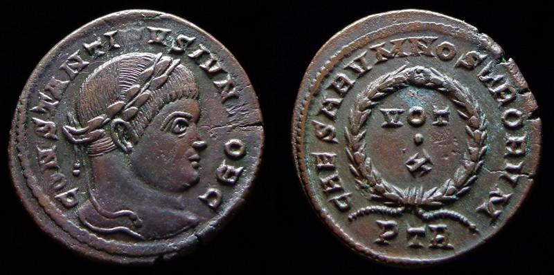 Quelques monnaies d'une collection constantinienne. Bsg1410