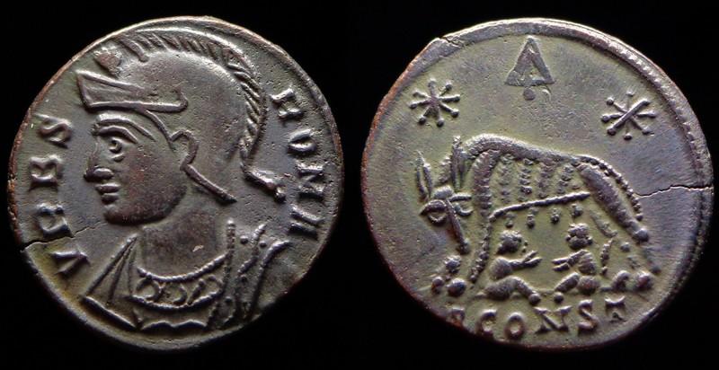 Quelques monnaies d'une collection constantinienne. Bsg410