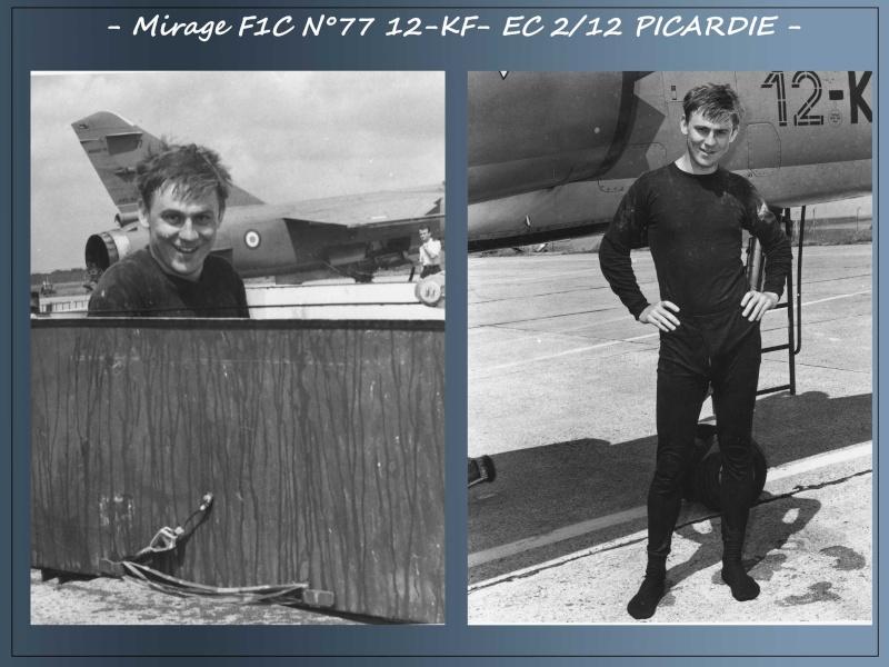MIRAGE F1C N°77 12-KF - VOL D'ADMISSION DU LIEUTENANT JEAN PAUL DENOEUX- AVRIL 86 2jp10