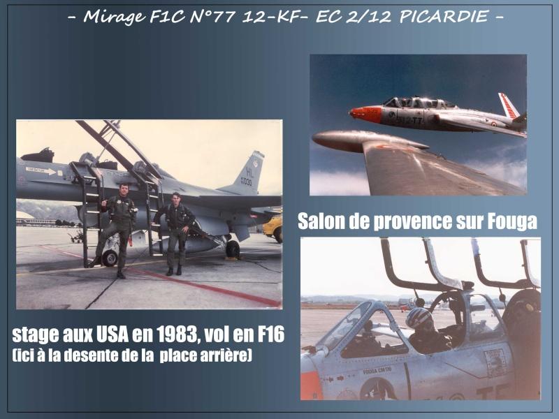 MIRAGE F1C N°77 12-KF - VOL D'ADMISSION DU LIEUTENANT JEAN PAUL DENOEUX- AVRIL 86 3jp10