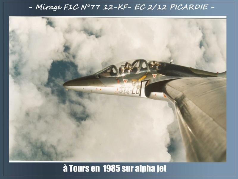 MIRAGE F1C N°77 12-KF - VOL D'ADMISSION DU LIEUTENANT JEAN PAUL DENOEUX- AVRIL 86 4jp10