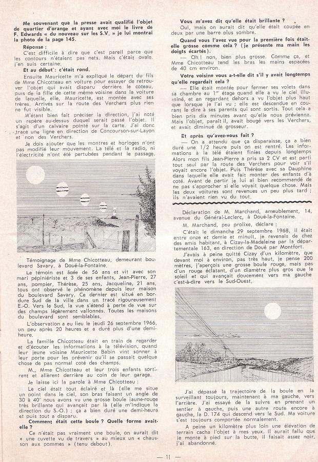 Douè-la-fontaine : Enquêtes de M.Sibenaler [1966] 10-210