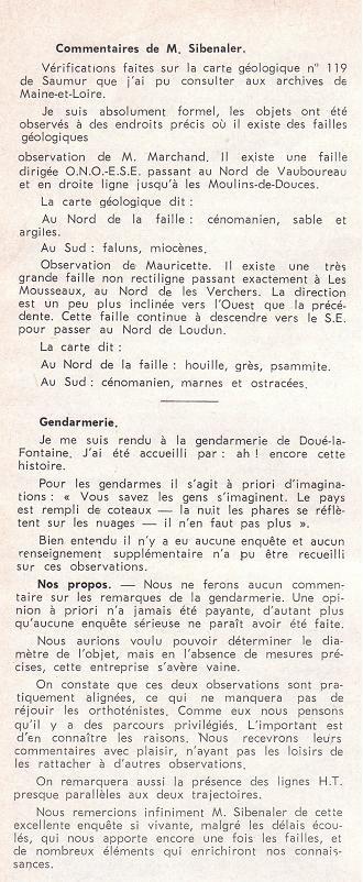 Douè-la-fontaine : Enquêtes de M.Sibenaler [1966] 10-310
