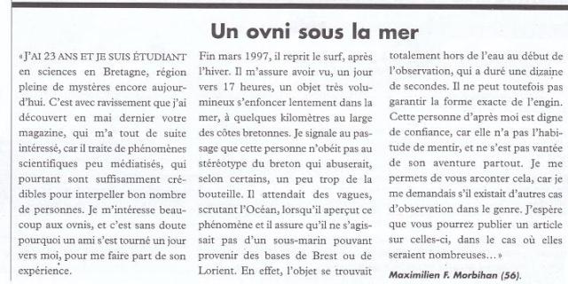 Un OVNI sous la mer - Mars 1997 117