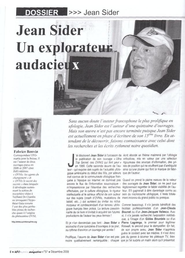 Hommage à Jean Sider - Ufomania N°57 123