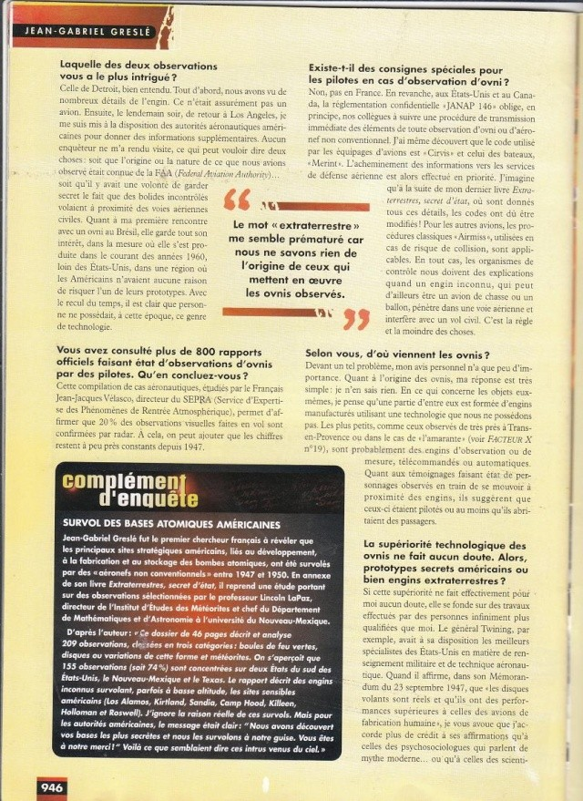 FACTEUR X n°34 - Interview de Jean Gabriel.Greslè (1998) 218