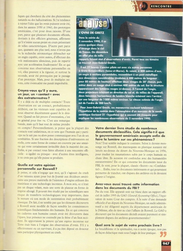 FACTEUR X n°34 - Interview de Jean Gabriel.Greslè (1998) 316