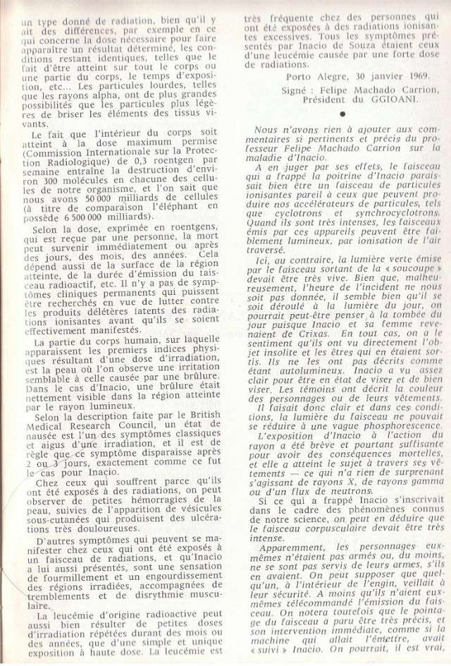 Cas de mort direct par Humanoïdes [GEPA - Mars 1969] 810