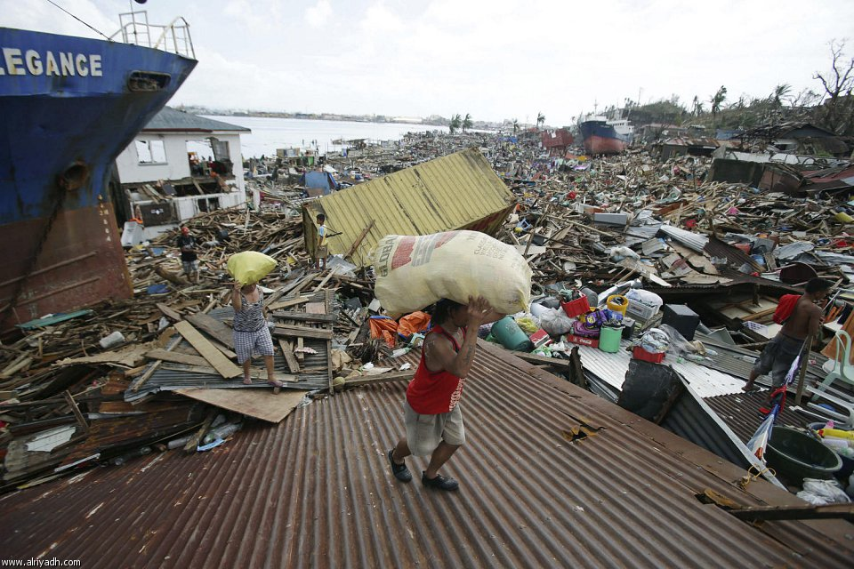 أضرار إعصار هايان 1413