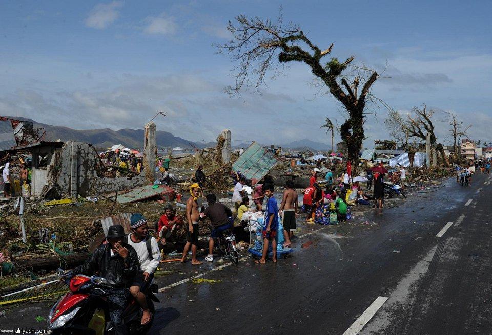 أضرار إعصار هايان 2014