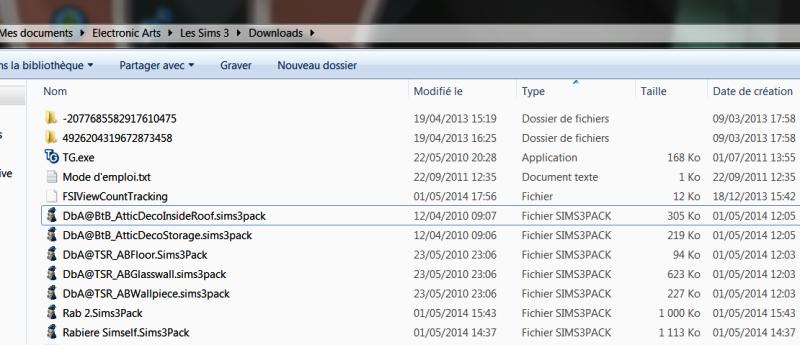 Fichier ''contenu personalisé sims 3'' n'apparait pas dans la catégorie téléchargement Sans_t16