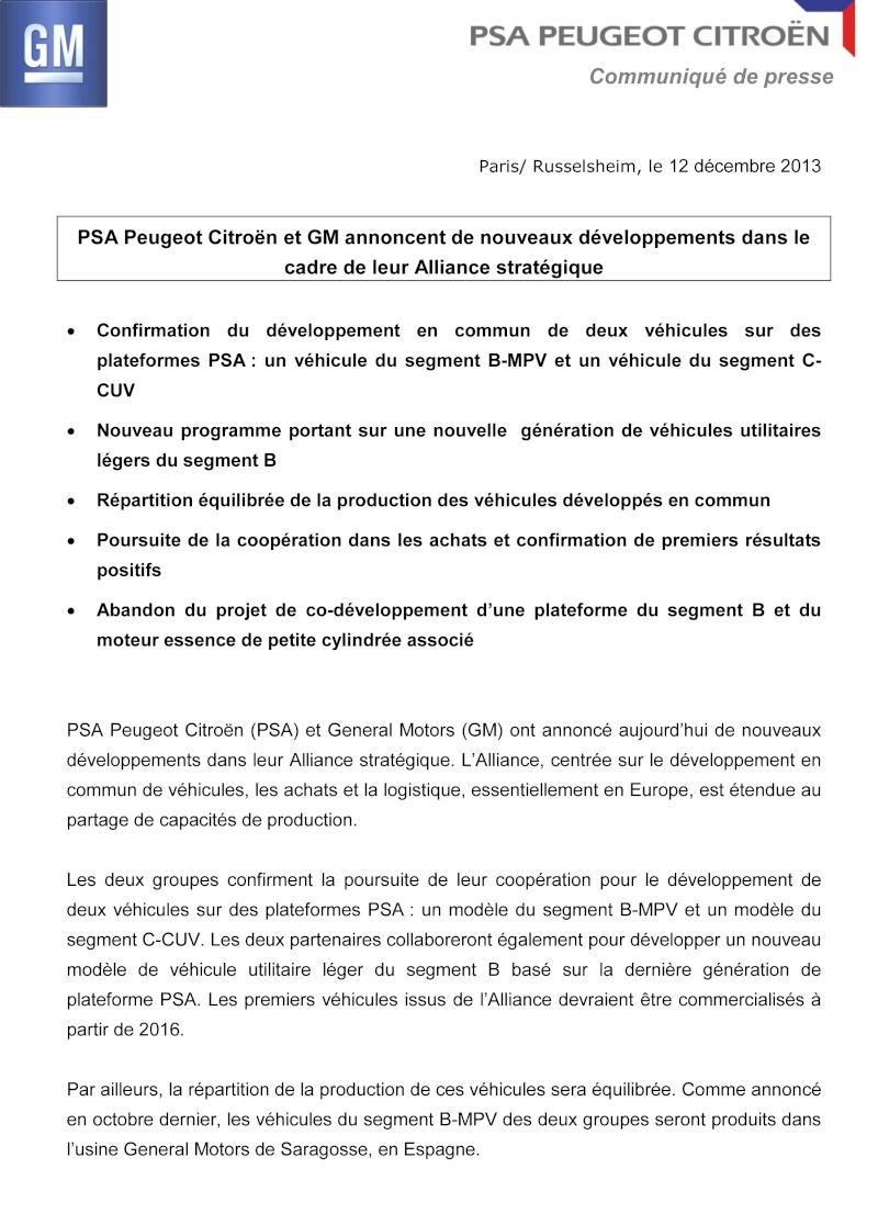 [SUJET OFFICIEL] Partenariat PSA/GM - Page 37 2013-110