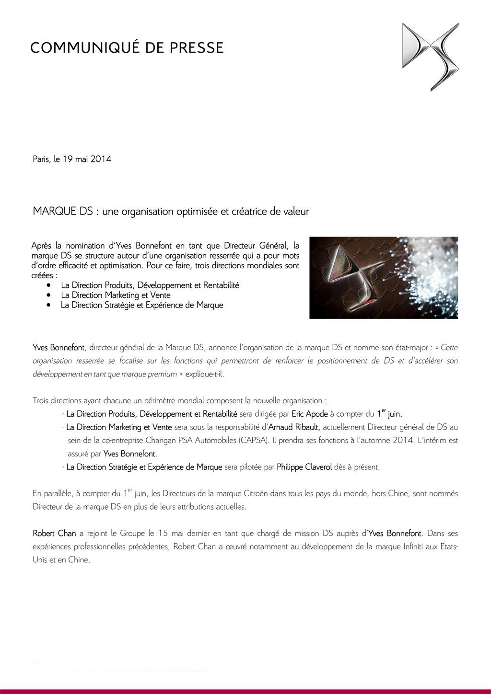 [INFORMATION] Hiérarchie DS Cp_org10