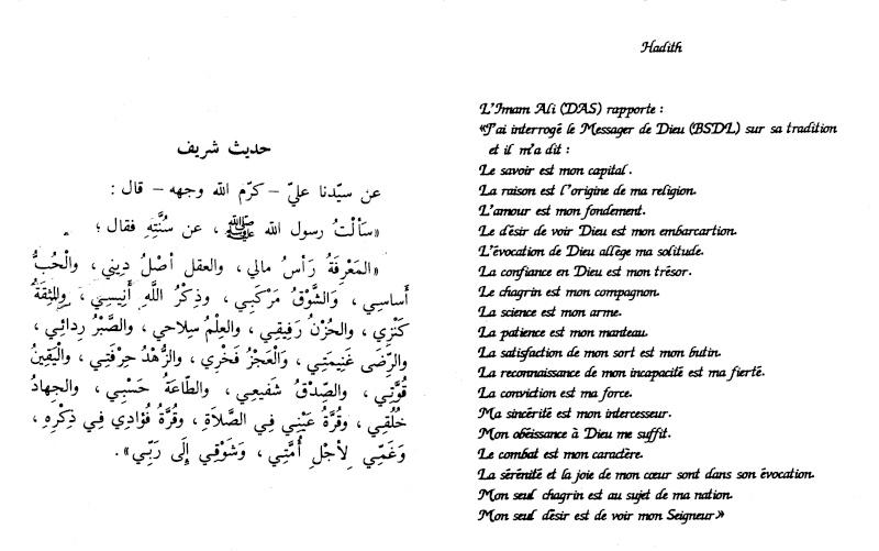"""L'Imam Ali rapporte :""""J'ai interrogé le Messager de Dieu sur sa tradition, il m'a dit .... Jardin10"""