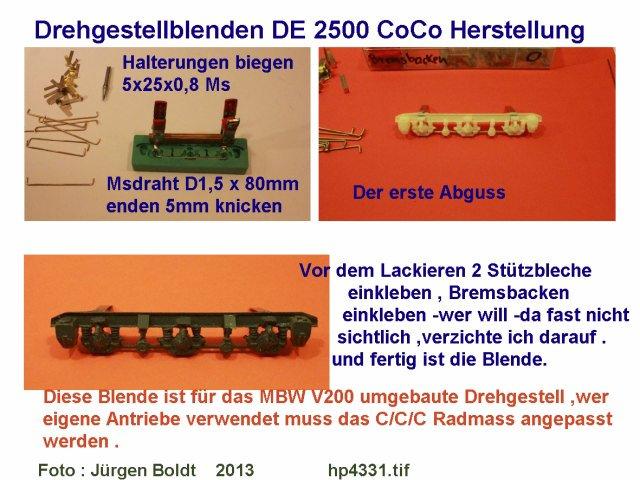 Das dritte Projekt 2014 - Die Henschel-BBC DE2500 Lok in 0 Hp433110