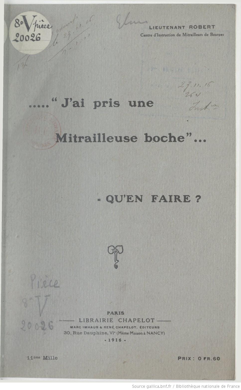 """""""Beutewaffen"""" Armes de Prise des """"Centraux"""" en 14/18 J_ai_p11"""
