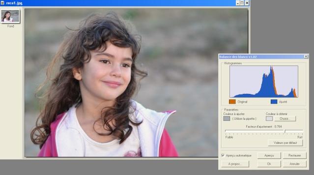 Recadrer et corriger une photo avec les plugins de Photofiltre. Color10