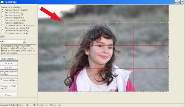 Recadrer et corriger une photo avec les plugins de Photofiltre. Depla10