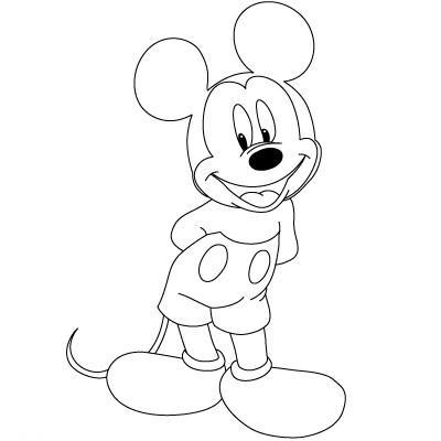 رسم ميكي ماوس سهل للاطفال لم يسبق له مثيل الصور Tier3 Xyz