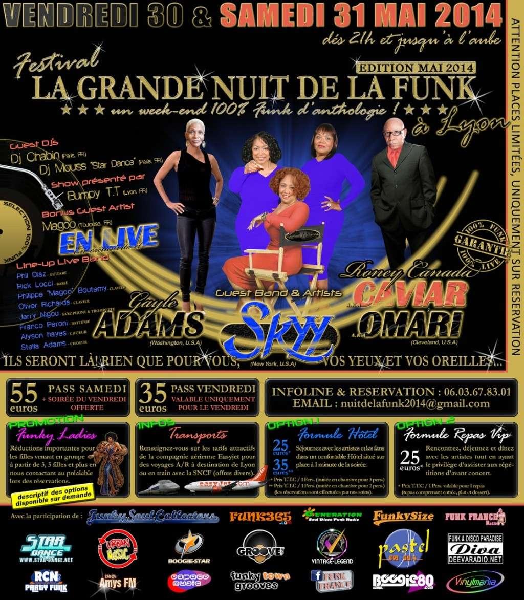 SKYY, GAYLE ADAMS & CO. à LA GRANDE NUIT DE LA FUNK à LYON   30 & 31 MAI 2014   Gp4b11