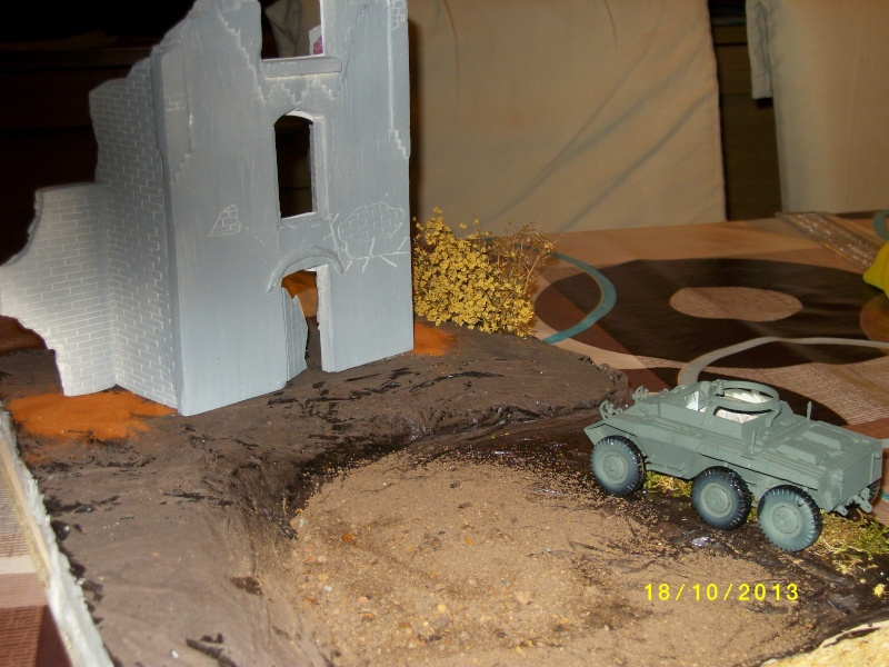 Ferme de la Trappe détruite M 20 + möbelwagen Tamiya 1/48 Imgp1245