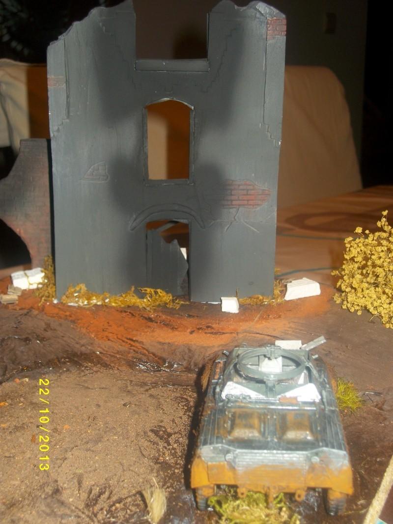 Ferme de la Trappe détruite M 20 + möbelwagen Tamiya 1/48 Imgp1248