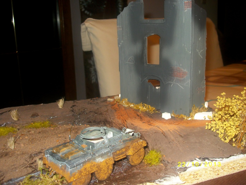 Ferme de la Trappe détruite M 20 + möbelwagen Tamiya 1/48 Imgp1249