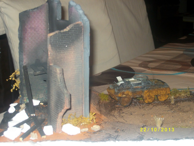 Ferme de la Trappe détruite M 20 + möbelwagen Tamiya 1/48 Imgp1251