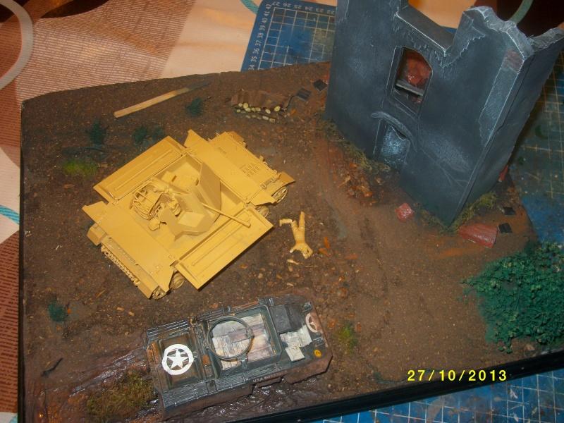 Ferme de la Trappe détruite M 20 + möbelwagen Tamiya 1/48 Imgp1257