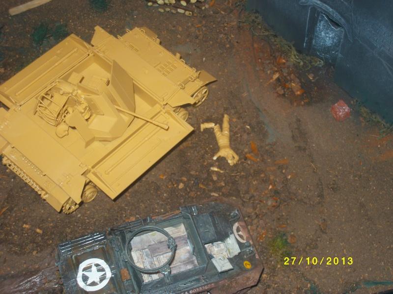 Ferme de la Trappe détruite M 20 + möbelwagen Tamiya 1/48 Imgp1258