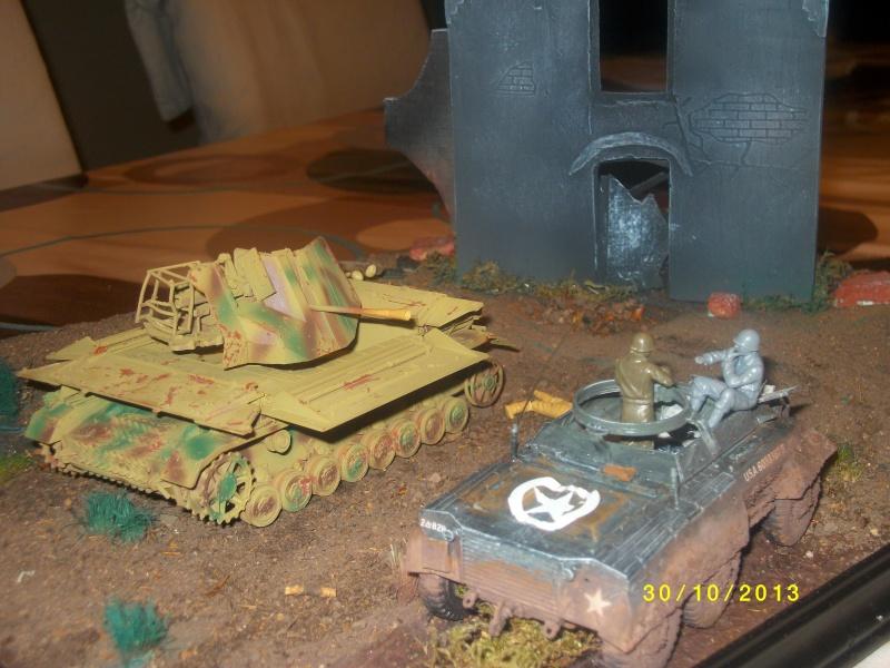 Ferme de la Trappe détruite M 20 + möbelwagen Tamiya 1/48 Imgp1261