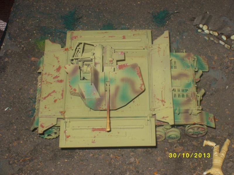 Ferme de la Trappe détruite M 20 + möbelwagen Tamiya 1/48 Imgp1263