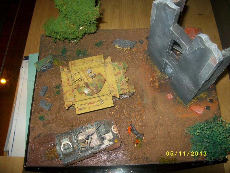 Ferme de la Trappe détruite M 20 + möbelwagen Tamiya 1/48 - Page 2 Imgp1310