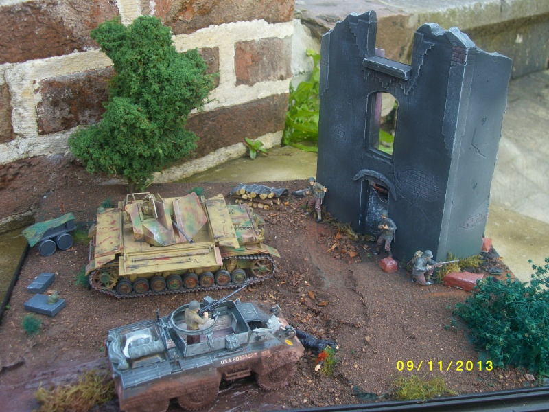Ferme de la Trappe détruite M 20 + möbelwagen Tamiya 1/48 - Page 2 Imgp1313