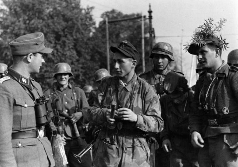Les troupes de la Luftwaffe lors de la bataille de Market Garden 91110