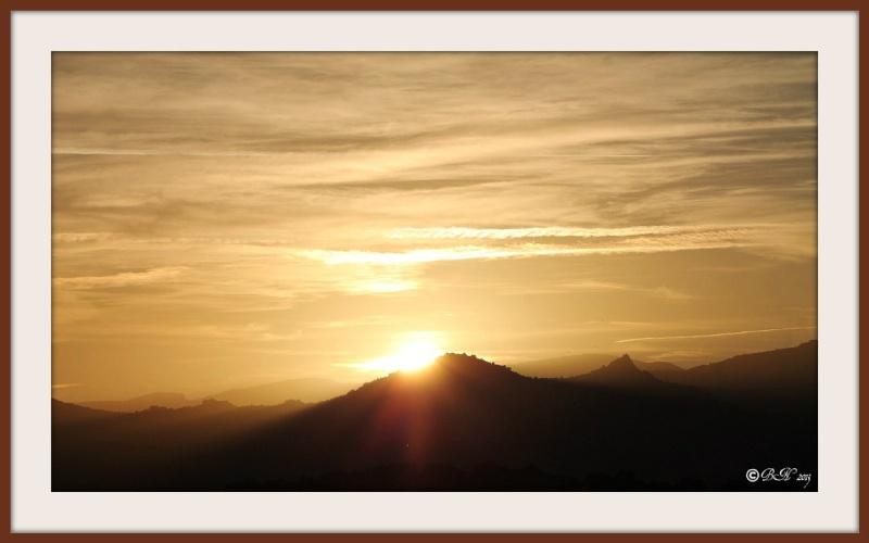 Coucher de soleil sur le Roc Dels Maures 20131115