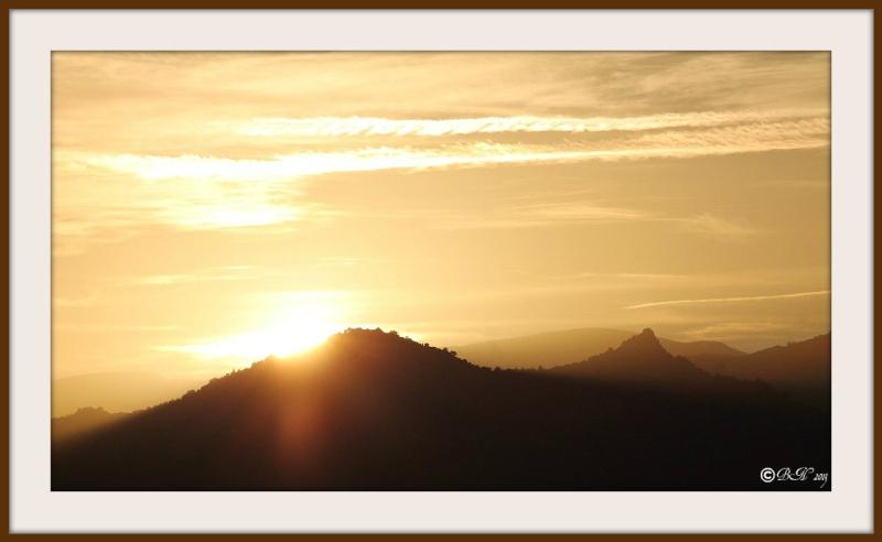 Coucher de soleil sur le Roc Dels Maures 20131116