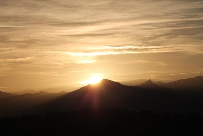 Coucher de soleil sur le Roc Dels Maures 20131119