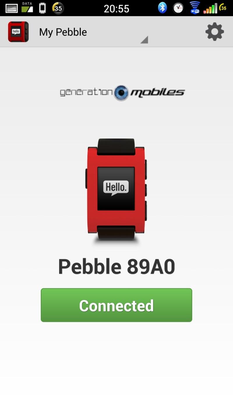 [TEST] Test de la montre Pebble Smartwatch Screen10
