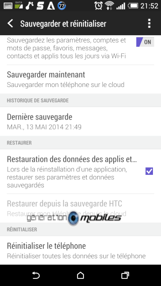 [TUTO] Faire une soft reset ou un hard reset sur le HTC One M8 Screen24