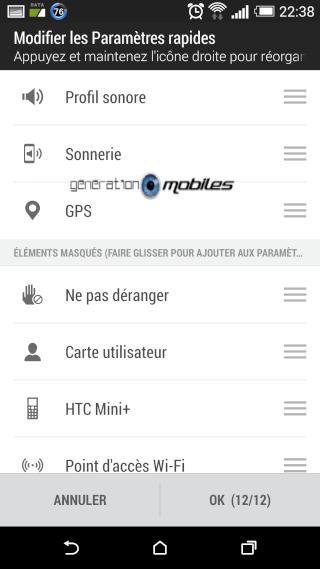 [TUTO] Utiliser et/ou modifier les paramètres rapides sur le HTC One M8 Screen29